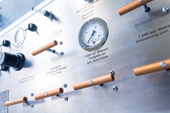 Abbildung Hochdruck-Prüfstand
