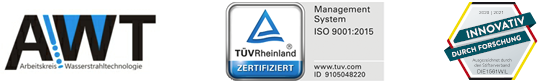 AWT, TÜV und Innovativ Siegel